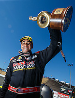 Jul 31, 2016; Sonoma, CA, USA; NHRA top fuel driver J.R. Todd celebrates after winning the Sonoma Nationals at Sonoma Raceway. Mandatory Credit: Mark J. Rebilas-USA TODAY Sports