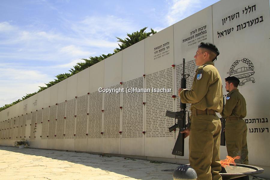 Israel, Shephelah, Memorial Day at the Armored Corps memorial site and Museum