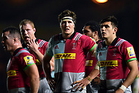 Charlie Matthews of Harlequins looks on during a break in play. Aviva Premiership match, between Harlequins and Sale Sharks on October 6, 2017 at the Twickenham Stoop in London, England. Photo by: Patrick Khachfe / JMP