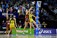 Pulse&rsquo; Katrina Grant and Tactix&rsquo; Charlotte Elley  in action during the ANZ Premiership - Pulse v Tactix at TSB Arena, Wellington, New Zealand on Monday 14 May 2018.<br /> Photo by Masanori Udagawa. <br /> www.photowellington.photoshelter.com