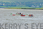 The Cromane team move to the front to win the mixed u12 race at the Callinafercy regatta at Ballykissane Pier on Sunday