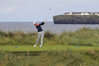 Stephen Coulter (Warrenpoint) on the 4th tee during Matchplay Round 1 of the South of Ireland Amateur Open Championship at LaHinch Golf Club on Friday 22nd July 2016.<br /> Picture:  Golffile | Thos Caffrey<br /> <br /> All photos usage must carry mandatory copyright credit   (© Golffile | Thos Caffrey)