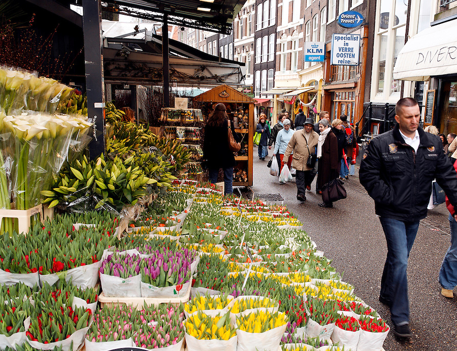 Flower vendor, Floating Flower Market, Amsterdam, Netherlands