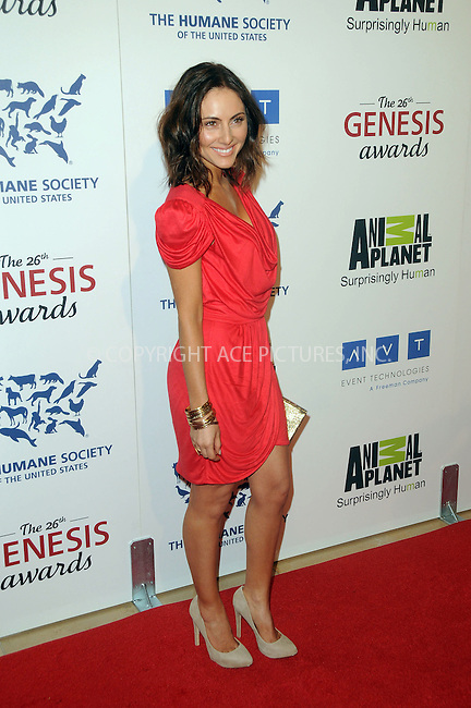 WWW.ACEPIXS.COM . . . . .  ....March 24 2012, LA....Elizabeth Di Prinzio arriving at the 26th Annual Genesis Awards at The Beverly Hilton Hotel on March 24, 2012 in Beverly Hills, California. ....Please byline: PETER WEST - ACE PICTURES.... *** ***..Ace Pictures, Inc:  ..Philip Vaughan (212) 243-8787 or (646) 769 0430..e-mail: info@acepixs.com..web: http://www.acepixs.com