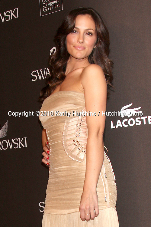 Minka Kelly.arriving at the 2010 Costume Designer's Guild Awards.Beverly Hilton Hotel.Beverly Hills, CA.February 25, 2010.©2010 Kathy Hutchins / Hutchins Photo....