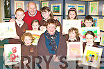 Pupils from Lisssivigeen NS display their paintings in the school's art exhibition in the school on Tuesday front row l-r:Peter O'Sullivan, Miriam Long, Ryan Bartlett, Liadh O'Sullivan. Back row: Sean Horgan, Mike McAulliffe Principal, Orla Cronin, Laura Doona, Danialle Rainsford and Ryan Kelleher