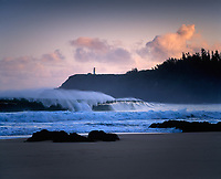 Huge Wave Breaking at Secret Beach, Kauai, Hawaii, USA.