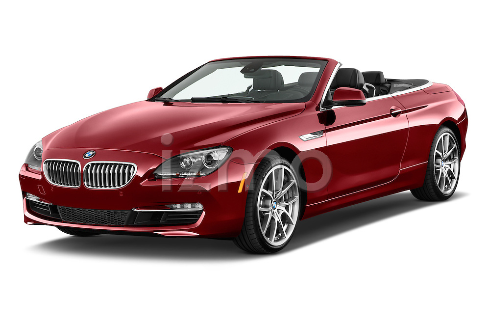 Front three quarter view of a 2014 BMW 6 Series Convertible 3A