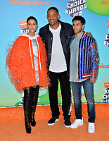 LOS ANGELES, CA. March 23, 2019: Naomi Scott, Will Smith & Mena Massoud  at Nickelodeon's Kids' Choice Awards 2019 at USC's Galen Center.<br /> Picture: Paul Smith/Featureflash