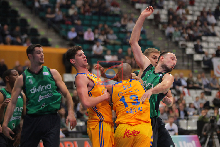 League ACB-ENDESA 2016/2017. Game: 28.<br /> Divina Seguros Joventut vs Herbalife Gran Canaria: 86-72.<br /> Oriol Pauli, eulis Baez &amp; Luka Bogdanovic.