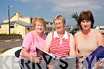 FOCAL POINT: Members of the Portmagee Community Centre outside the refurbished building on Friday last..L/r. Louise O'Sullivan, Kathleen Barry and Marian Martin..