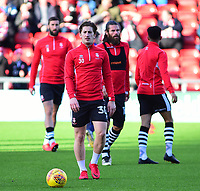 Lincoln City's Alex Woodyard during the pre-match warm-up<br /> <br /> Photographer Andrew Vaughan/CameraSport<br /> <br /> The EFL Sky Bet League Two - Crewe Alexandra v Lincoln City - Saturday 11th November 2017 - Alexandra Stadium - Crewe<br /> <br /> World Copyright &copy; 2017 CameraSport. All rights reserved. 43 Linden Ave. Countesthorpe. Leicester. England. LE8 5PG - Tel: +44 (0) 116 277 4147 - admin@camerasport.com - www.camerasport.com