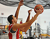 Omar El Sheikh #30 of The Knox School (St. James) tries to get to the net during a non-league game against Our Saviour Lutheran (Bronx) in the inaugural Empire Invitational at Adelphi University on Saturday, Jan. 7, 2017. Lutheran defeated Knox by a score of 74-66.