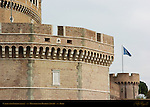 Castle San Angelo Southern Bastions detail Castel sant'Angelo Mausoleum of Hadrian 139 AD Ponte sant'Angelo Rome