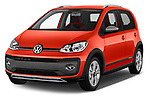 2018 Volkswagen Up Cross Up 5 Door Hatchback angular front stock photos of front three quarter view