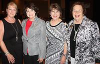 NWA Democrat-Gazette/CARIN SCHOPPMEYER Mary Breaux Crow (from left), Kim Vest, Karen Robbins and Fran Brown enjoy the scholarship benefit Wednesday evening.