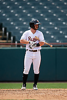 Bowie Baysox Ryan McKenna (1) at bat during an Eastern League game against the Akron RubberDucks on May 30, 2019 at Prince George's Stadium in Bowie, Maryland.  Akron defeated Bowie 9-5.  (Mike Janes/Four Seam Images)