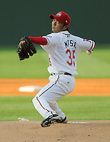 April 24, 2008: RHP Terumasa Matsuo (35) of the Greenville Drive, Class A affiliate of the Boston Red Sox, in a game against the Asheville Tourists at Fluor Field at the West End in Greenville, S.C. Photo by:  Tom Priddy/Four Seam Images