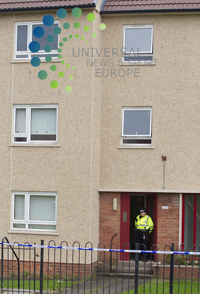 A boy of 13 is in custody following the death of a woman in Hamilton..Police and ambulance services were called to a flat in Deveron Crescent, Hamilton, late on Friday, where 34-year-old Dawn McKenzie was found seriously injured. .Picture: Universal News And Sport (Scotland).25 June 2011...