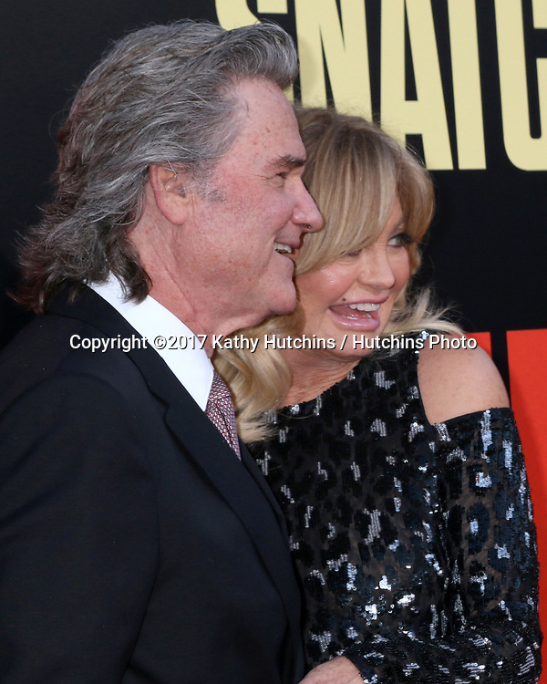 "LOS ANGELES - MAY 10:  Kurt Russell, Goldie Hawn at the ""Snatched"" World Premiere at the Village Theater on May 10, 2017 in Westwood, CA"