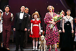 Clarke Thorell, Anthony Warlow, Merwin Foard, Lilla Crawford, Jane Lynch, Brynn O'Malley during the Curtain Call for Jane Lynch debuting as Miss Hannigan in 'Annie The Musical' on Broadway at the Palace Theatre in New York City on May 16, 2013.