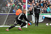 Wednesday, 23 April 2014<br /> Pictured: David Cornell.<br /> Re: Swansea City FC are holding an open training session for their supporters at the Liberty Stadium, south Wales,