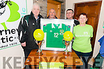 Killarney Celtic FC fundraiser for Bernardos organisers L-R Eoin O'Donovan (Main Organiser), Michael O'Herlihy (organiser), Michael Lyne (Killarney Celtic chairman) and Anne O'Connell (organiser)