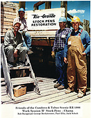 Friends of the C&amp;TS RR at 1998 work session B at Chama stock pens.<br /> C&amp;TS  Chama, NM  Taken by Berkstresser, George
