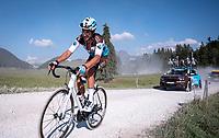 Mikaël Cherel (FRA/AG2R La Mondiale) at the gravel section atop the Montée du plateau des Glières (HC/1390m)<br /> <br /> Stage 18 from Méribel to La Roche-sur-Foron (175km)<br /> <br /> 107th Tour de France 2020 (2.UWT)<br /> (the 'postponed edition' held in september)<br /> <br /> ©kramon
