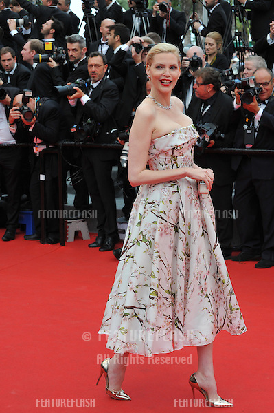 Nadja Auermann at the gala premiere of &quot;Grace of Monaco&quot; at the 67th Festival de Cannes.<br /> May 14, 2014  Cannes, France<br /> Picture: Paul Smith / Featureflash