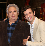 """Harvey Fierstein and Michael Urie attends the Broadway cast photo call for """"Torch Song"""" at the Hayes Theatre on September 20, 2018 in New York City."""