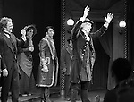 Will Chase, Gregg Edelman, Andy Karl & Company during the Broadway Opening Night Performance Curtain Call for 'The Mystery of Edwin Drood' at Studio 54 in New York City on 11/13/2012