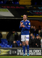 Ipswich Town's Will Keane celebrates scoring his side's fourth goal  <br /> <br /> Photographer Hannah Fountain/CameraSport<br /> <br /> The EFL Sky Bet League One - Ipswich Town v Accrington Stanley - Saturday 11th January 2020 - Portman Road - Ipswich<br /> <br /> World Copyright © 2020 CameraSport. All rights reserved. 43 Linden Ave. Countesthorpe. Leicester. England. LE8 5PG - Tel: +44 (0) 116 277 4147 - admin@camerasport.com - www.camerasport.com