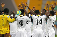 Ghana's players celebrate his goal during their FIFA U-20 World Cup Turkey 2013 Group Stage Group A soccer match Ghana betwen USA at the Kadir Has stadium in Kayseri on June 27, 2013. Photo by Aykut AKICI/isiphotos.com