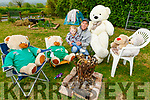 Niall O'Sullivan, with his son Aidan Breen O'Sullivan from Ballyhar, having fun and ready to have a BBQ during the Teddy Bears Ballyhar daily escapades.