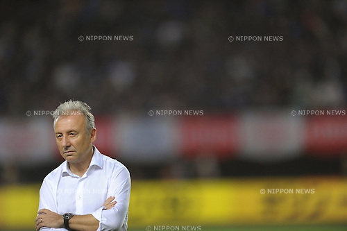 Alberto Zaccheroni (JPN),<br /> AUGUST 14, 2013 - Football / Soccer :<br /> Japan's head coach Alberto Zaccheroni after the Kirin Challenge Cup 2013 match between Japan 2-4 Uruguay at Miyagi Stadium in Miyagi, Japan. (Photo by Takahisa Hirano/AFLO)