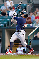Lehigh Valley IronPigs designated hitter Jack Cust #43 hits a home run during a game against the Rochester Red Wings at Frontier Field on August 18, 2011 in Rochester, New York.  Lehigh Valley defeated Rochester 11-1.  (Mike Janes/Four Seam Images)