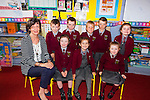 Pupils from Knockaclarig NS who started their school journey on August 31st, pictured f l-r: Principal Anne Nash, Mikayla Leahy, Anna O'Keeffe, Kimmy Gibson. B l-r: Tommy Mahoney, Oran Murphy, Anthony O'Connor, David Carroll and Lauren Collins.