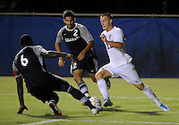 Florida International University men's soccer player Quentin Albrecht (22) plays against Nova University on August 26, 2011 at Miami, Florida. FIU won the game 2-0. .