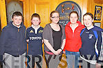 Supporting their school's fundraising night at the races were from Colaiste ns Sceilge l-r; Padraig Maher, Jack Landers, Sarah O'Neill, Caroline Moriarty(Past Pupil) & Eilis Moriarty.