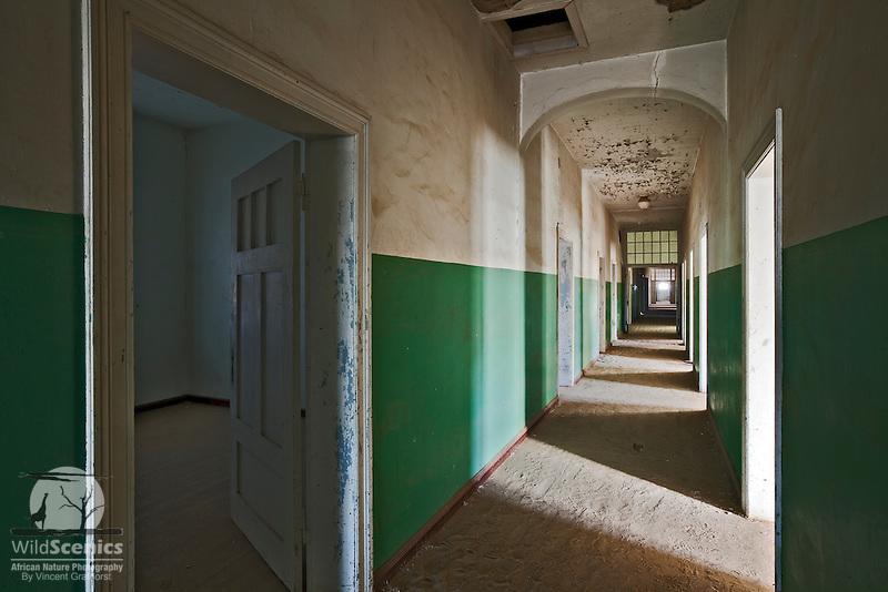 Passage in the abandoned hospital of Kolmanskop
