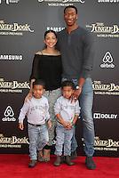 "04 April 2016 - Hollywood, California - Wesley Johnson, Melissa Sanchez, Santana Johnson. ""The Jungle Book"" Los Angeles Premiere held at the El Capitan Theatre. Photo Credit: Sammi/AdMedia"