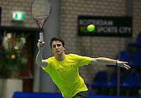 18-12-13,Netherlands, Rotterdam,  Topsportcentrum, Tennis Masters, , Daan Maasland     <br /> Photo: Henk Koster