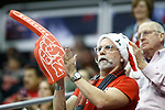 KANSAS CITY, KS - DECEMBER 14: Fans cheer on their team during the Division I Women's Volleyball Semifinals held at Sprint Center on December 14, 2017 in Kansas City, Missouri. (Photo by Tim Nwachukwu/NCAA Photos via Getty Images)