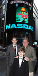 John Bolton, Dan lauria, Johnny Rabe and the cast of 'A Christmas Story, The Musical'  ringing  the NASDAQ Stock Market Opening Bell at NASDAQ, Times Square in New York City on December 20, 2012