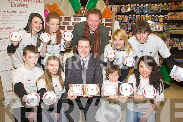CD: Kerry Performers whop launched their CD in Garveys Super Valu. Tralee on Saturday morning. Front l-r: Ian Collins, Jennifer Conway, Kevin        , Evan Winter and Marie Kelly. Back l-r: Siobhan O'Mahony, Aoife McDonnell, Arthur Spring, Samanta Breewood and Aki O'Rourke.................................. ....