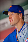 5 April 2018: New York Mets starting pitcher Jacob deGrom watches play from the dugout during the Washington Nationals Home Opener at Nationals Park in Washington, DC. The Mets defeated the Nationals 8-2 in the first game of their 3-game series. Mandatory Credit: Ed Wolfstein Photo *** RAW (NEF) Image File Available ***