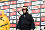 Chris Froome and Greg Van Avermaet dressed as a ninja warriors on stage before the Tour de France Saitama Critérium 2017 held around the streets os Saitama, Japan. 3rd November 2017.<br /> Picture: ASO/Pauline Ballet | Cyclefile<br /> <br /> <br /> All photos usage must carry mandatory copyright credit (© Cyclefile | ASO/Pauline Ballet)