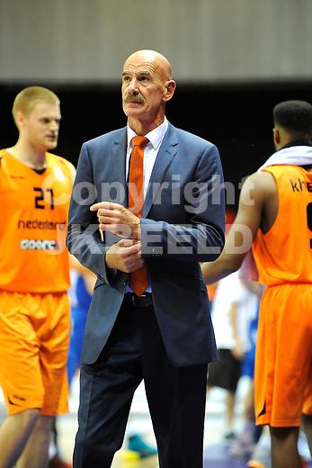 GRONINGEN  Basketbal, Nederland - Israel, Martiniplaza, EK kwalificatie ,  seizoen 2014-2015, 13-08-2014,  Toon van Helfteren