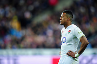Anthony Watson of England looks on during a break in play. RBS Six Nations match between France and England on March 19, 2016 at the Stade de France in Paris, France. Photo by: Patrick Khachfe / Onside Images
